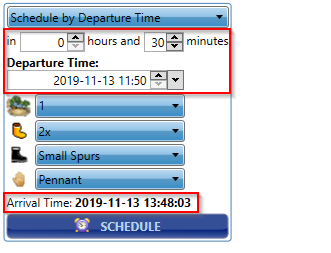 schedule by departure time
