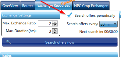Search offers periodically